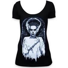 Monsters Bride Frankenbride Horror Tattoo Lowbrow Art Black Tee T-shirt Shirt