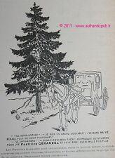 PUBLICITE ORIGINALE de 1903 PASTILLES GIRAUDEL SAPIN VOITURE MEDICAMENT AD PUB