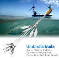 5 Arms Alabama Umbrella Jig Head Fishing Rig Bait Fishing Lures Lightweight