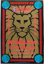 JOE HIGGS, THE WAILERS, C.K. LADZEKPO mint Reggaefest 1988 orig. Fillmore poster