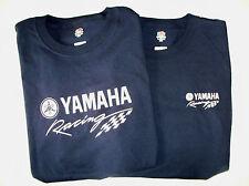 Two Yamaha Racing Screen Printed Navy T-Shirts 6 oz. 100% Cotton