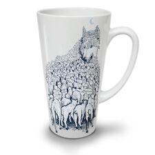 Wolf ovejas Rebaño Animal Nuevo Blanco Té Café Taza de café con leche 12 17 Oz | wellcoda