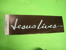 """8 Vintage Jesus Lives - Christian Bumper Sticker Lot  10"""" F"""