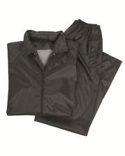Impermeable Negro, Chaqueta + Pantalones! protección contra la humedad, camping,