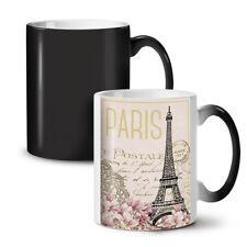 Cartolina Parigi NUOVO colore modifica Tè Tazza Da Caffè 11 OZ | wellcoda