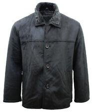 Men's Casual Faux Black Harington Box Jacket