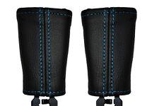 Punto azul se adapta a Nissan Navara D22 2x Asiento Delantero cinturón tallo cubiertas de cuero