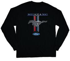 long sleeve t-shirt for men classic Ford Mustang pony tri bar logo tee shirt