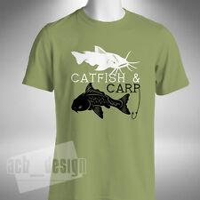 Bagre & Pesca De Carpa Para hombres Camiseta De Cebo Angler volar noche Pescador