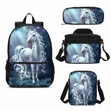 Kids School Bag Combo Unicorn Backpack Insulated Lunch Bags Shoulder Bag Pen Lot