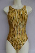 Leotard Gold Tiger Lycra Adults X/S, S, M, L, X/L