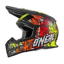 O 'Neal 5 Series MX Casco Vandal Arancione Giallo Neon Motocross Enduro Cross Quad ABS