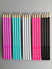 Faber-Castell 4 Stück Bleistifte SPARKLE B  schwarz pink türkis fuchsia grau