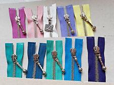 Reißverschluss Metall Größe 5 unteilbar div. Farben YKK, OPTI Zipper 24cm-36cm