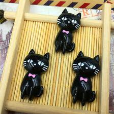5/25/50/100pcs black Cat 30X15MM Flatback Resin Cabochon Scrapbooking/Crafts