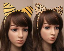 Animal Print Ears Fancy Dress Headband Party Cat Fur Leopard Tiger Dressing Up