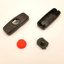 Nero Inline Pulsante Interruttore On/Off FAI DA TE Lampada LED Vivarium DC-pulsante rosso