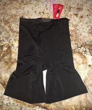 SPANX Hide and Sleek Super Control BLACK Mid Thigh Shaper Shorts NEW Womens M