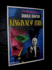 "Original CHARLIE CHAPLIN KING IN NEW YORK India 1 Sheet 29"" x 40"""