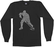 Threadrock Boys Hockey Player Typography Design Youth L/S T-shirt Ice Sports