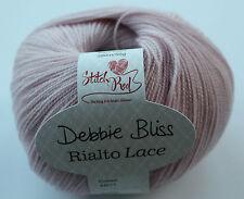 Debbie Bliss Rialto Lace, Merino wool superwash yarn. New 50g Ball Heather pink.
