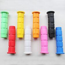 2PCS Soft Flangeless Longneck Non-Slip Fixie Bike BMX Grips w/ Multi-Color