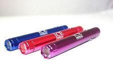 LED Medical Penlight Pentorch Pocket Light Torch. Pink Purple or Blue