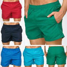 Herren Bermuda Bade Shorts Kurz Badehose Bunt Gestreift Beachwear Schwimmhose