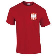 Poland Football Badge Polska World Cup Fan Supporter 2018 Unisex T-Shirt S-5XL
