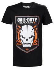 Call OF DUTY BLACK OPS III 3 Skull Logo T-shirt Officially Licensed Merchandise