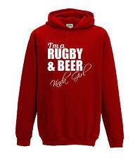 Juko I'm A Rugby And Beer Kinda Girl Hoodie Funny Hoody