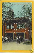 Kenton Ohio Printed Postcard - Fire Department