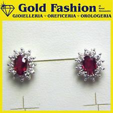 Orecchini in oro con diamanti e rubini ct.0,37 - GF5019