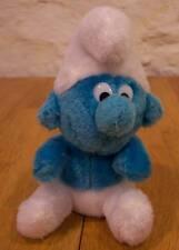 "VINTAGE Smurfs 1980 SMURF 7"" Plush Stuffed Animal"