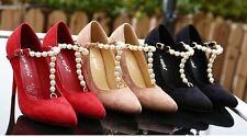 Décollte Scarpe decolte donna tacco spillo 11 cm stiletto eleganti perle 9243