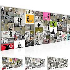 381a45af72 WANDBILDER Collage Banksy Street Art VLIES LEINWAND BILD - XXL BILDER  KUNSTDRUCK