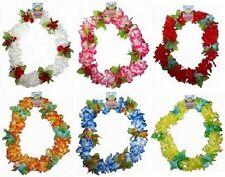 Hawaiian Deluxe Lei Cuello Guirnalda Disfraz 6 Colores Vivos Nuevo h