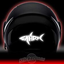 2 adesivi SHARK RIFLETTENTI PVC casco moto stickers reflective HELMETS
