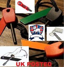BRITISH & IMPORT FLINT STEEL MAGNESIUM FIRE LIGHTER - BCB FIREBALL ARMY SURVIVAL