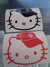Hello Kitty Sf Giants Cap Decal Sticker Vinyl Set of 2