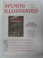 Sports Illustrated 8-20-56 Eddie Mathews 2nd Anniversary Cover, Very Good - Ex!