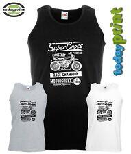 Muskel Shirt SUPER CROSS, Motocross, für Enduro, Dirt, ktm, Vintage, Adv Fans