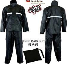 Pantalon Imperméable Moto 2 Pièces Réflecteur Pluie sur Veste Pantalon Costume