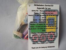 Childminder Survival Kit Novelty Gift Keepsake Present