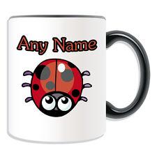 Personalised Gift Ladybird Mug Money Box Cup Animal Insect Design Cute Bug Name