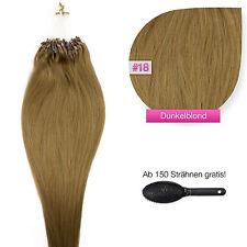 Remy Echthaar Microring Extensions Haarverlängerung #18 dunkelblond 1g