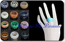 Luxus Ring Natur Edelstein Steinring Edelsteinring Achat Malachite Onyx Opal
