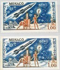 Monaco 1964 Maury 667 772 A-B Philatec Paris exhb Space ROCKET Communication MNH