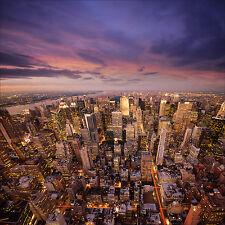 adesivo parete decocrazione : New York la notte - ref 1267 (25 dimensioni)