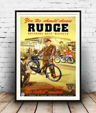Revista De Ciclismo Bicicleta RUDGE: viejo anuncio reproducción, cartel, Pared Arte.